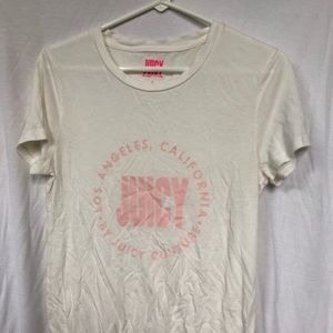 White and pink juicy couture t-shirt